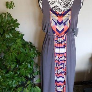 Pretty panel dress Medium. empire waist